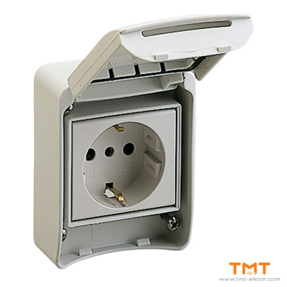 Picture of DOMESTIC SOCKET 10 16A IP65 STD SCHUKO 2