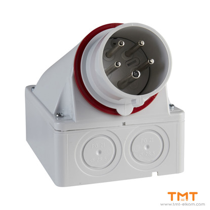 Picture of PLUG WALL MOUNT 32A 3P-N-E 380-415V IP44
