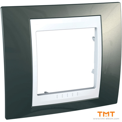 Picture of 1 GANG COVER FRAME Light Grey/WHITE