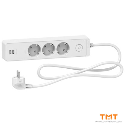 Picture of Schuko 3G TS w SW & 2 USB 1.5M white