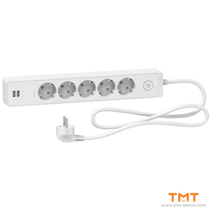 Picture of Schuko 5G TS w SW & 2 USB 1.5M white