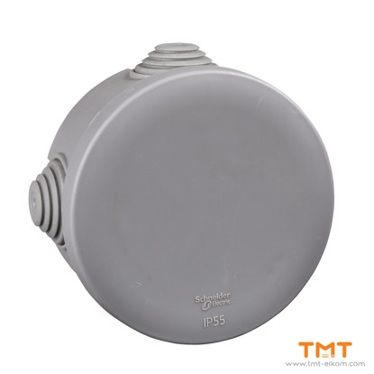 Picture of Junction box round ш80x40 grey