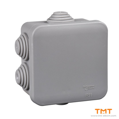 Picture of Junction box square 70x70x40 grey