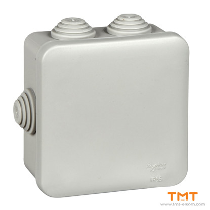 Picture of Junction box square 85x85x40 grey