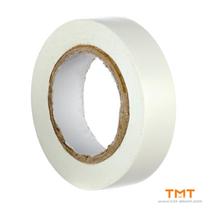 Picture of PVC Tape 15mmx10m white 10pcs/rol