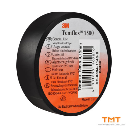 Picture of PVC Tape 10mmx15m black 3M