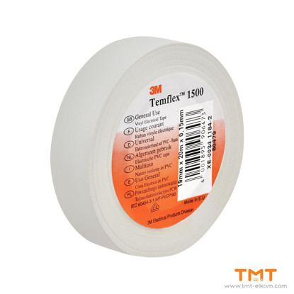 Picture of PVC Tape 19mmx20m white 3M