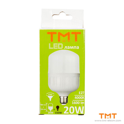 Picture of LED LAMP 20W E27 4000K T80-B-20W