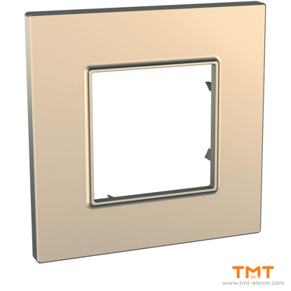 Picture of 1 gang Quadro cover frame Copper