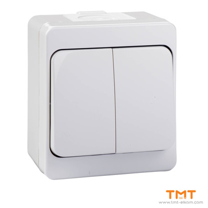 Picture of Double 1 way switch grey