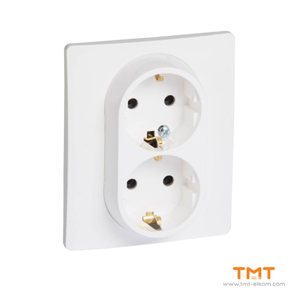 Picture of DOUBLE SOCKET OUTLET EARTHED 764534
