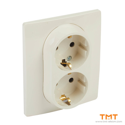 Picture of DOUBLE SOCKET OUTLET EARTHED 764634