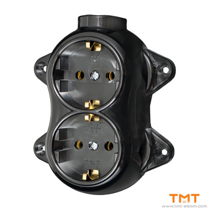 Picture of DOUBLE SOCKET OUTLET EARTHED ATRA 5220