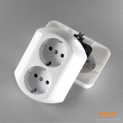 Picture of DOUBLE SOCKET OUTLET EARTHED TODI
