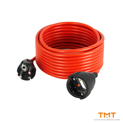 Picture of Cable with gorunded plug and socket 10A250V,COMMEL