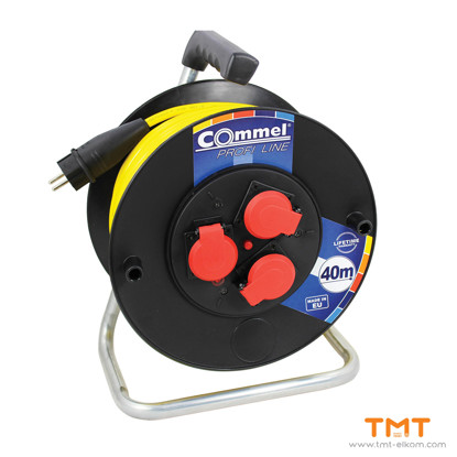 Picture of Cable reel PVC 280mm,16 A 250V IP44 COMMEL