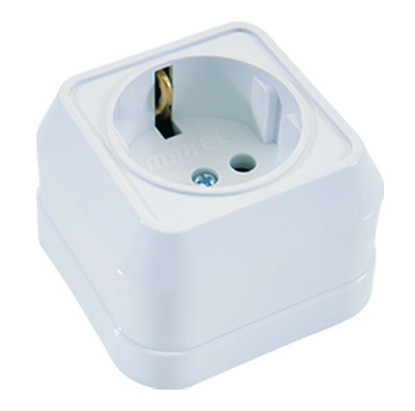 Picture of SCHUKO SOCKET OUTLET WHITE MAKEL