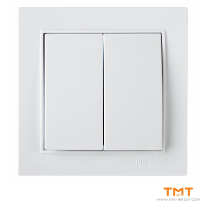 Picture of DOUBLE ONE WAY SWITCH WHITE THOR