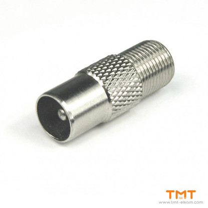Picture of RECEPTACLE TV/F CONNECTOR METAL MALE