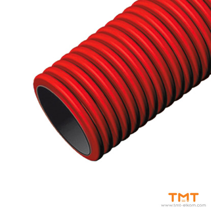 Picture of DOUBLE WALL CORRUGATED RED PIPE OD125mm  450N, L50m