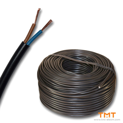 Picture of CABLE H03VV-F 2Х0.50 BLACK 300/300V
