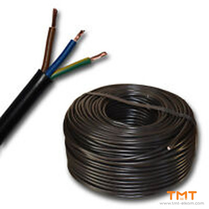 Picture of CABLE H03VV-F 3Х0.50 BLACK 300/300V