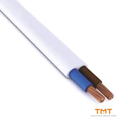 Picture of CABLE H03VVH2-F 2Х0.50 WHITE 300/300V