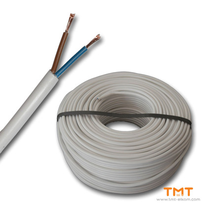 Picture of CABLE H05VV-F 2Х0.75 DRUM WHITE 300/500V
