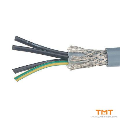 Picture of CABLE YSLCY-JZ 4Х0.75 DRUM 300/500V GREY SCREENED