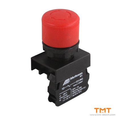 Picture of emergency stop button ф40 RED
