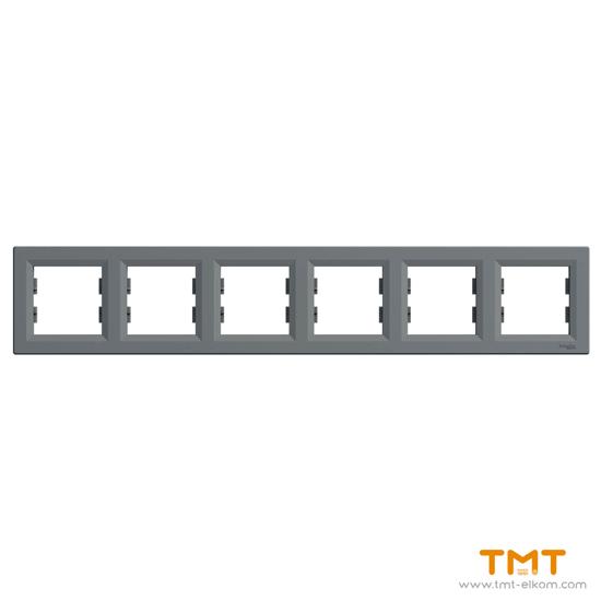 Picture of Asfora-horizontal 6-gang frame-steel