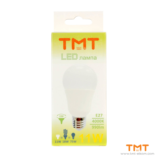 Picture of LED LAMP 11W E27 4000K LB2-A60-11W